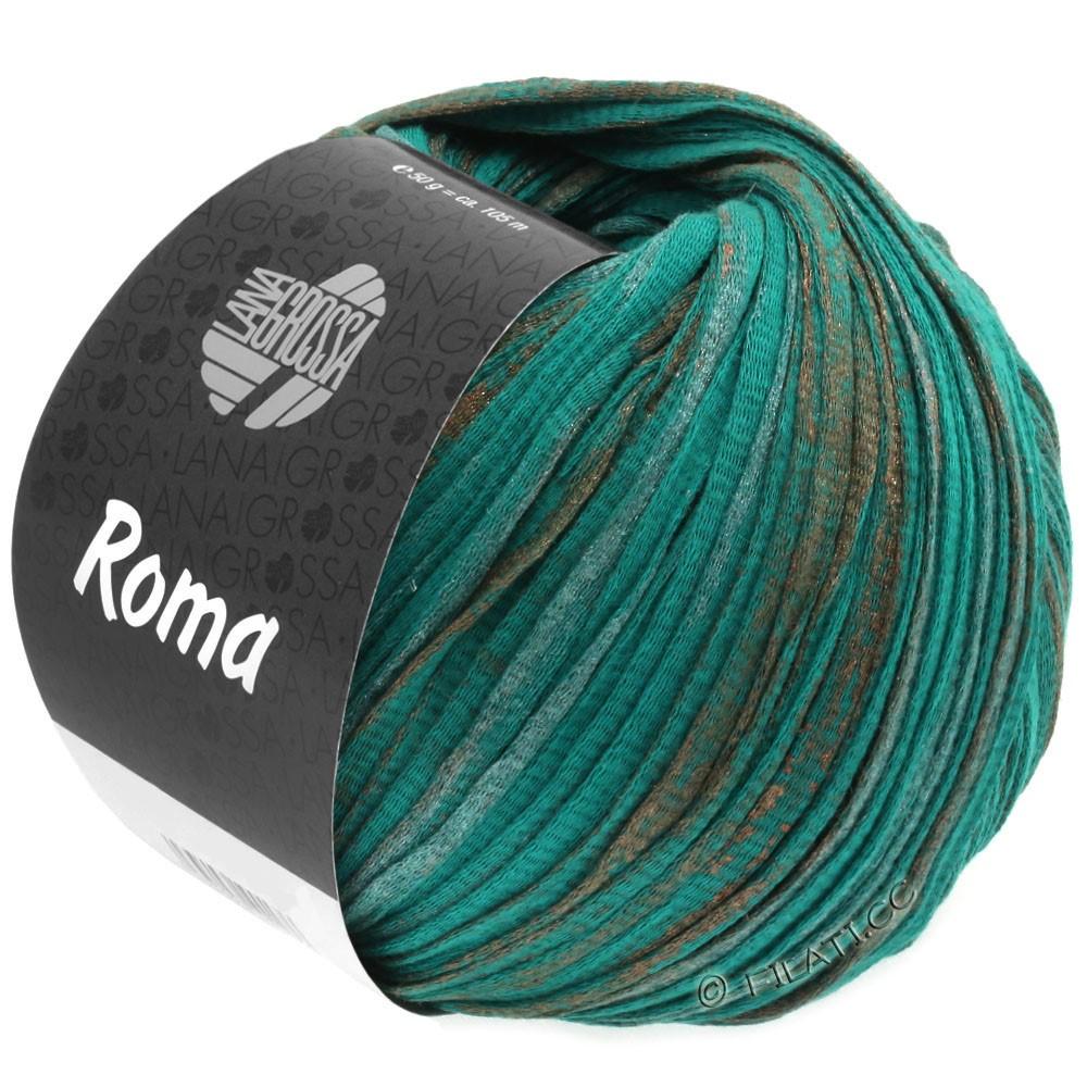 Lana Grossa ROMA | 027-opalgrøn/kobber/sølv