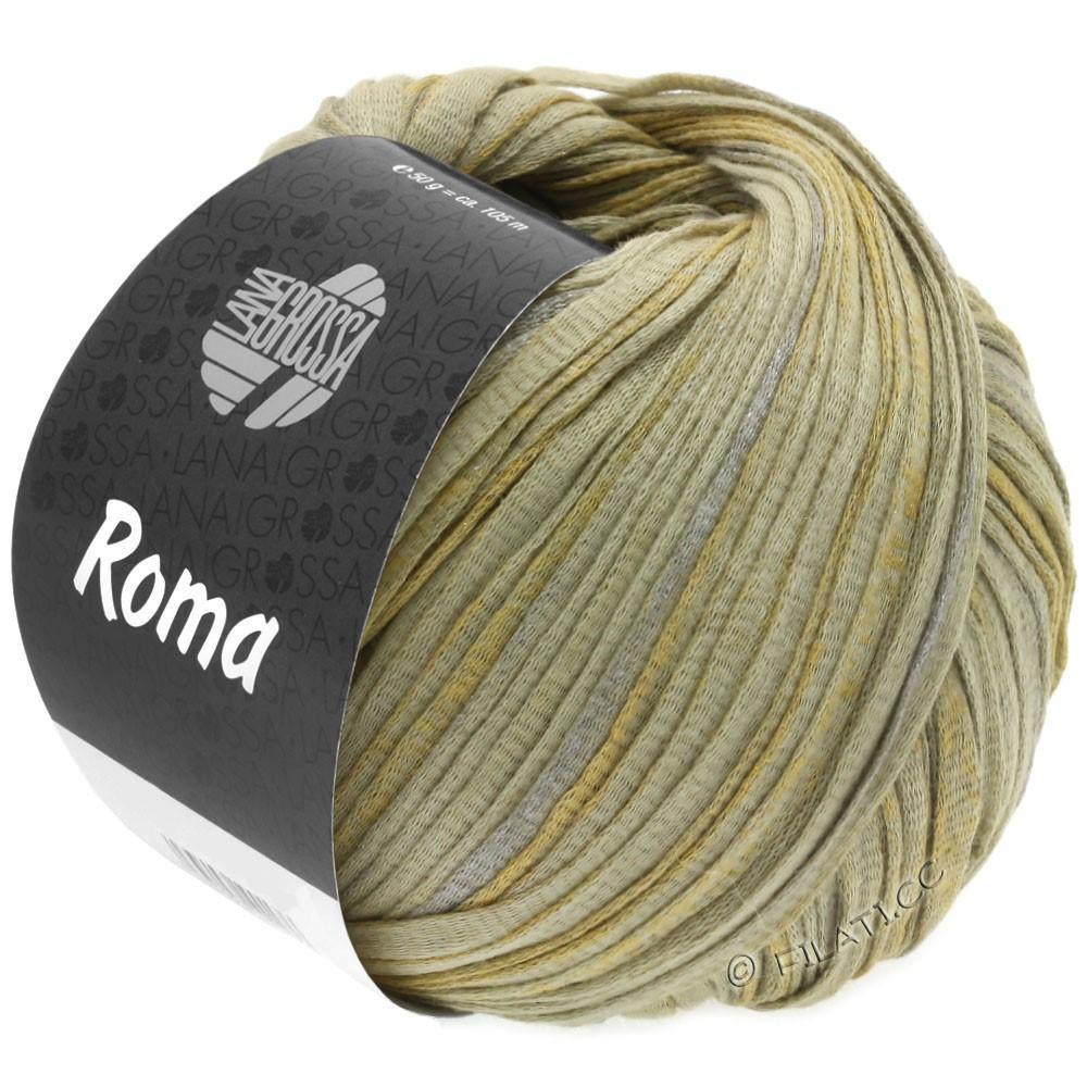 Lana Grossa ROMA | 028-grønbeige/sølv/gylden