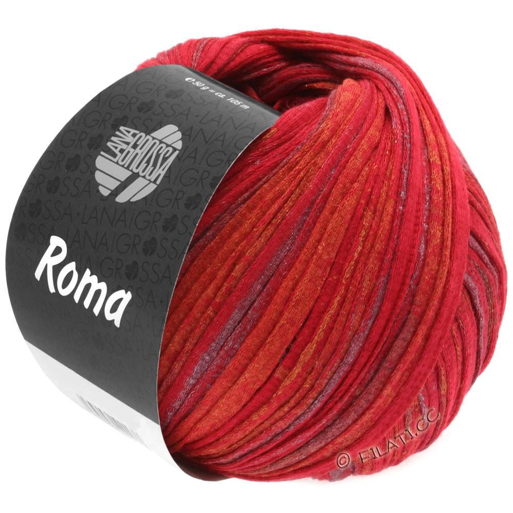 Lana Grossa ROMA | 031-rød/gylden/sølv