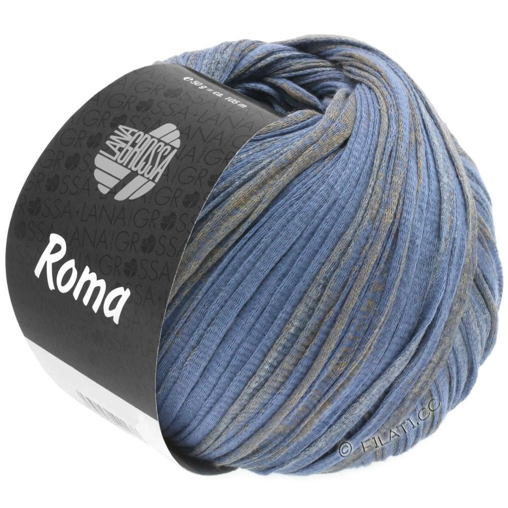 Lana Grossa ROMA | 032-blåviolet/gylden/sølv