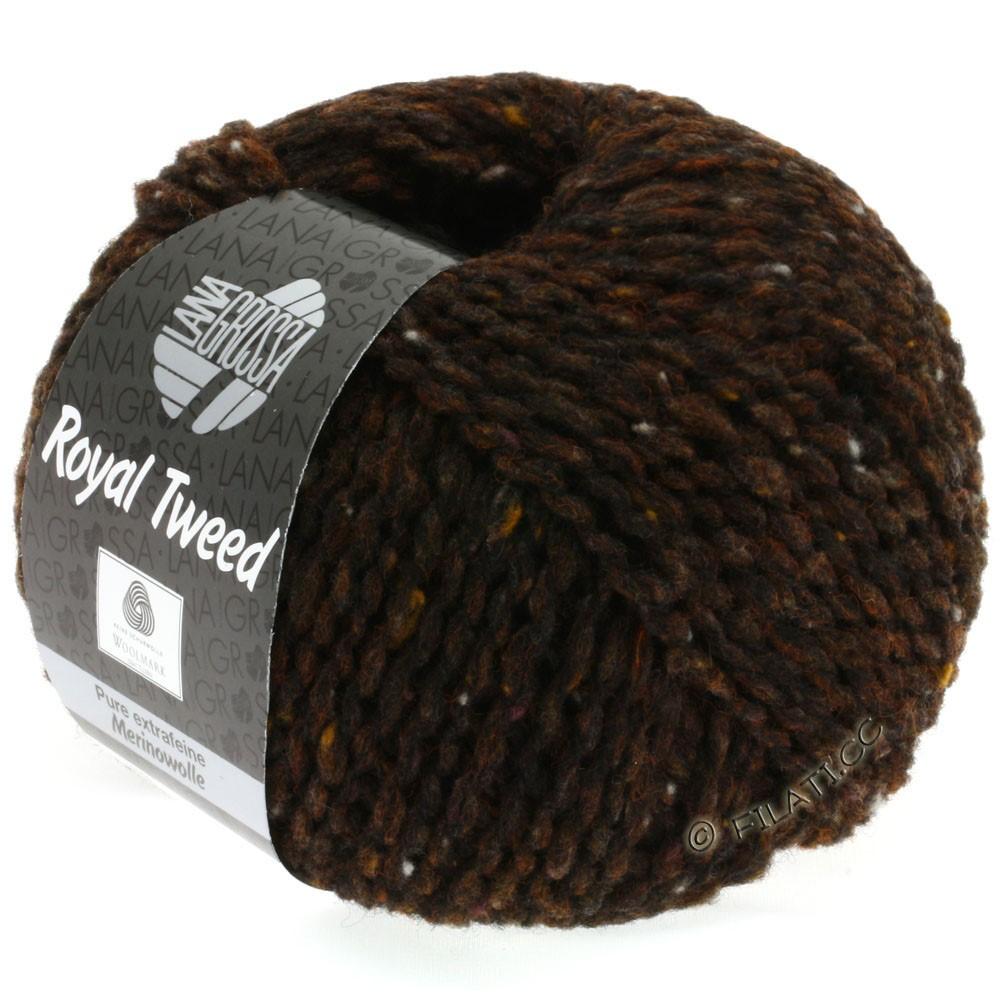 Lana Grossa ROYAL TWEED | 09-mørkebrun meleret