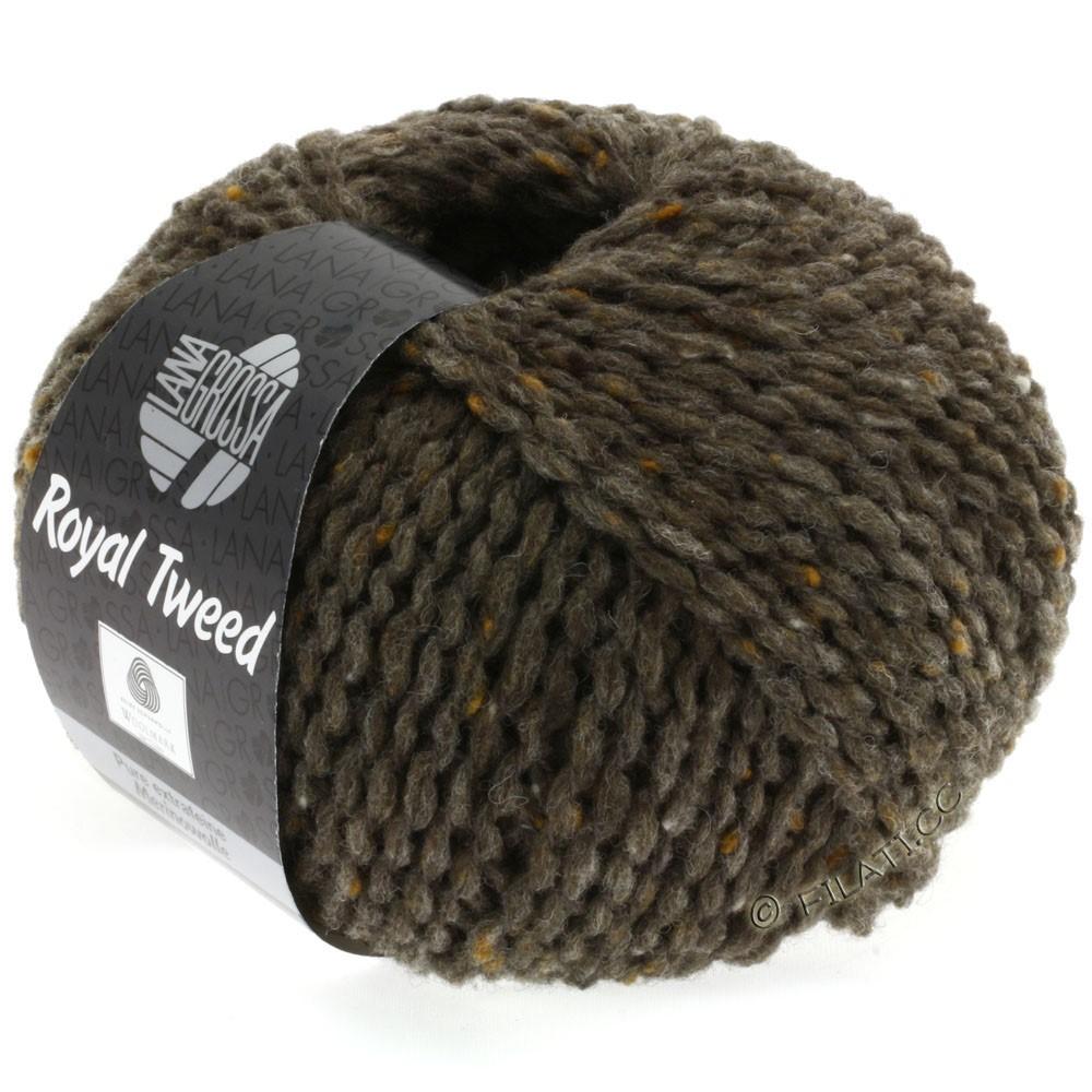 Lana Grossa ROYAL TWEED   12-gråbrun meleret