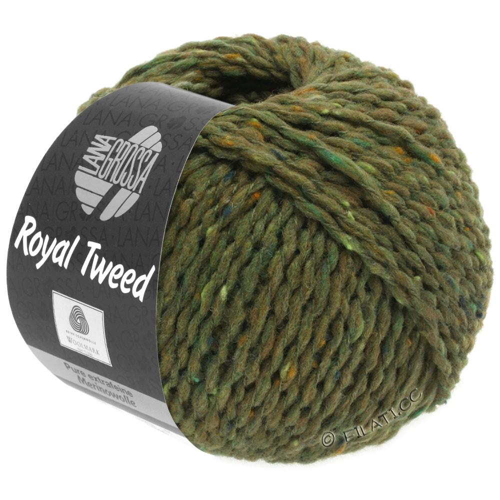 Lana Grossa ROYAL TWEED | 69-oliven meleret