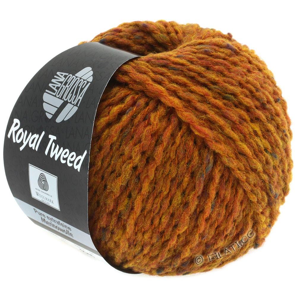 Lana Grossa ROYAL TWEED | 86-gyldenbrun meleret