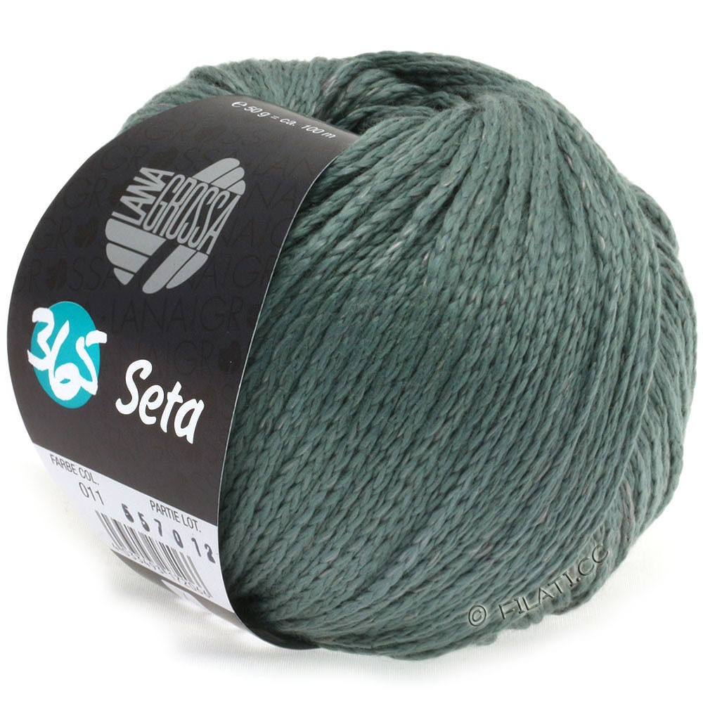 Lana Grossa 365 SETA   11-grøngrå