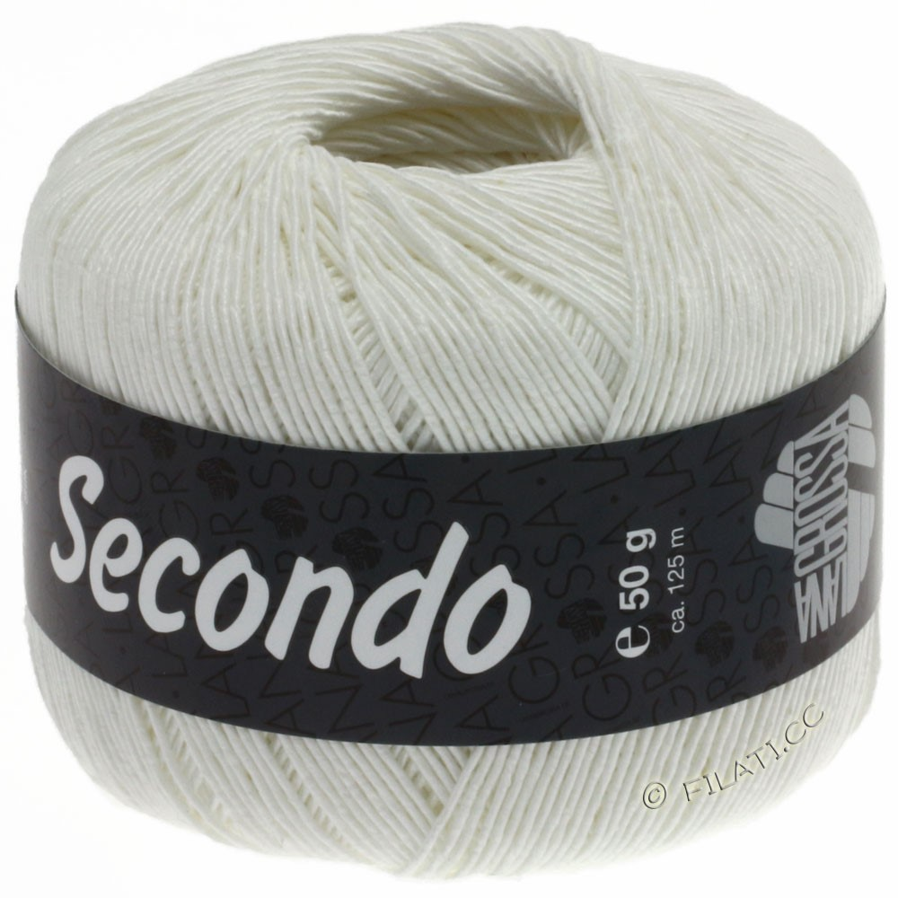 Lana Grossa SECONDO | 15-hvid