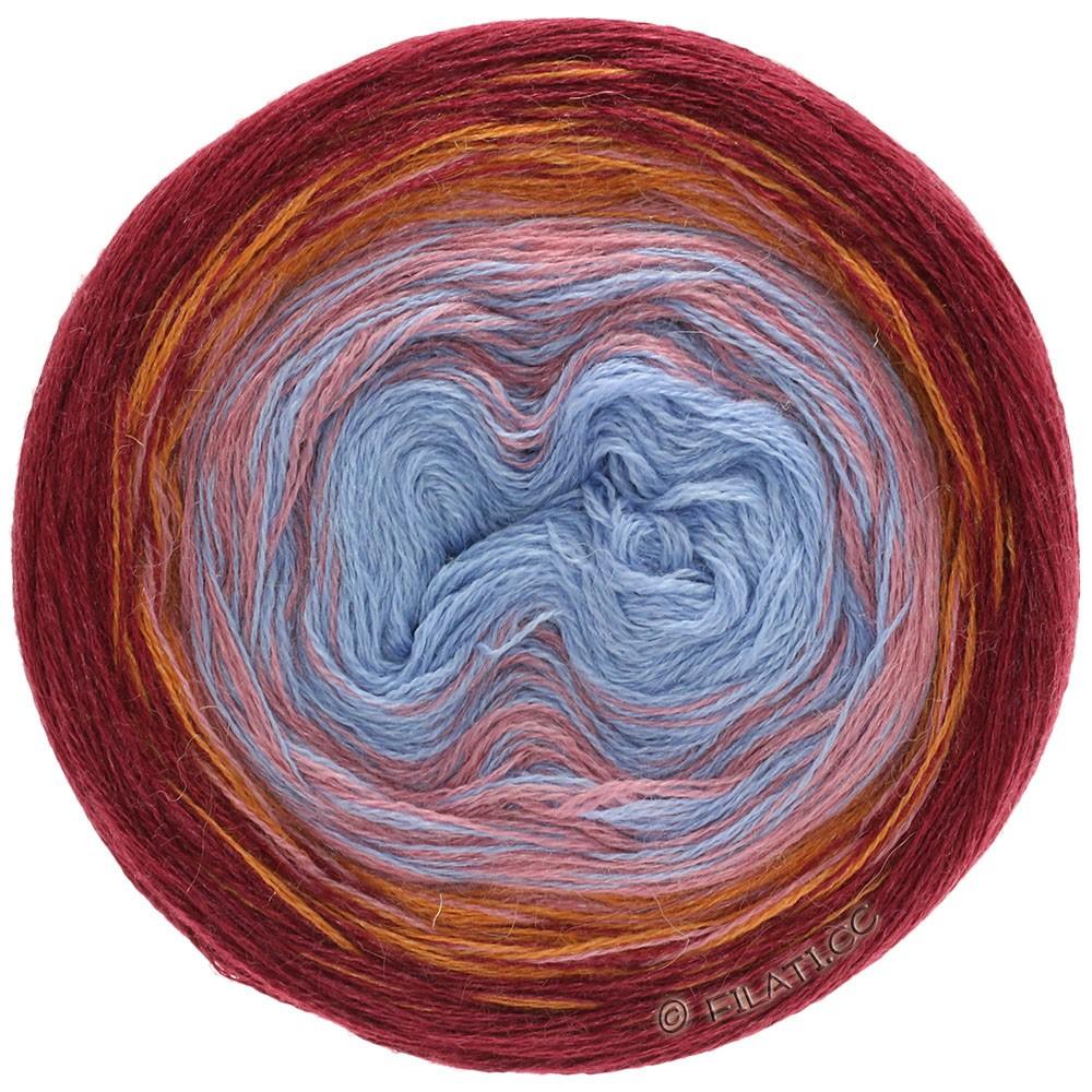 Lana Grossa SHADES OF ALPACA SILK | 301-bordeaux/orange/beigerosa/blå