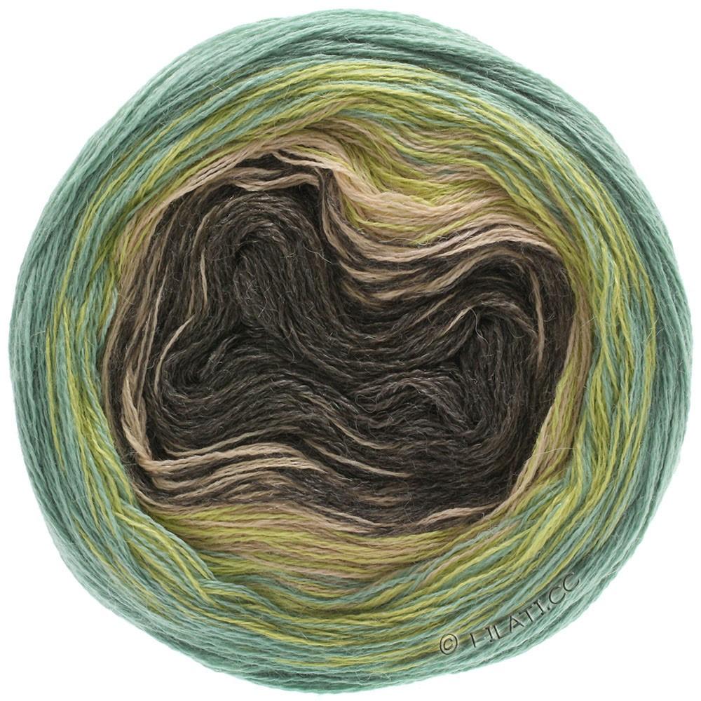 Lana Grossa SHADES OF ALPACA SILK | 305-sennep/grøn/beige/mokka