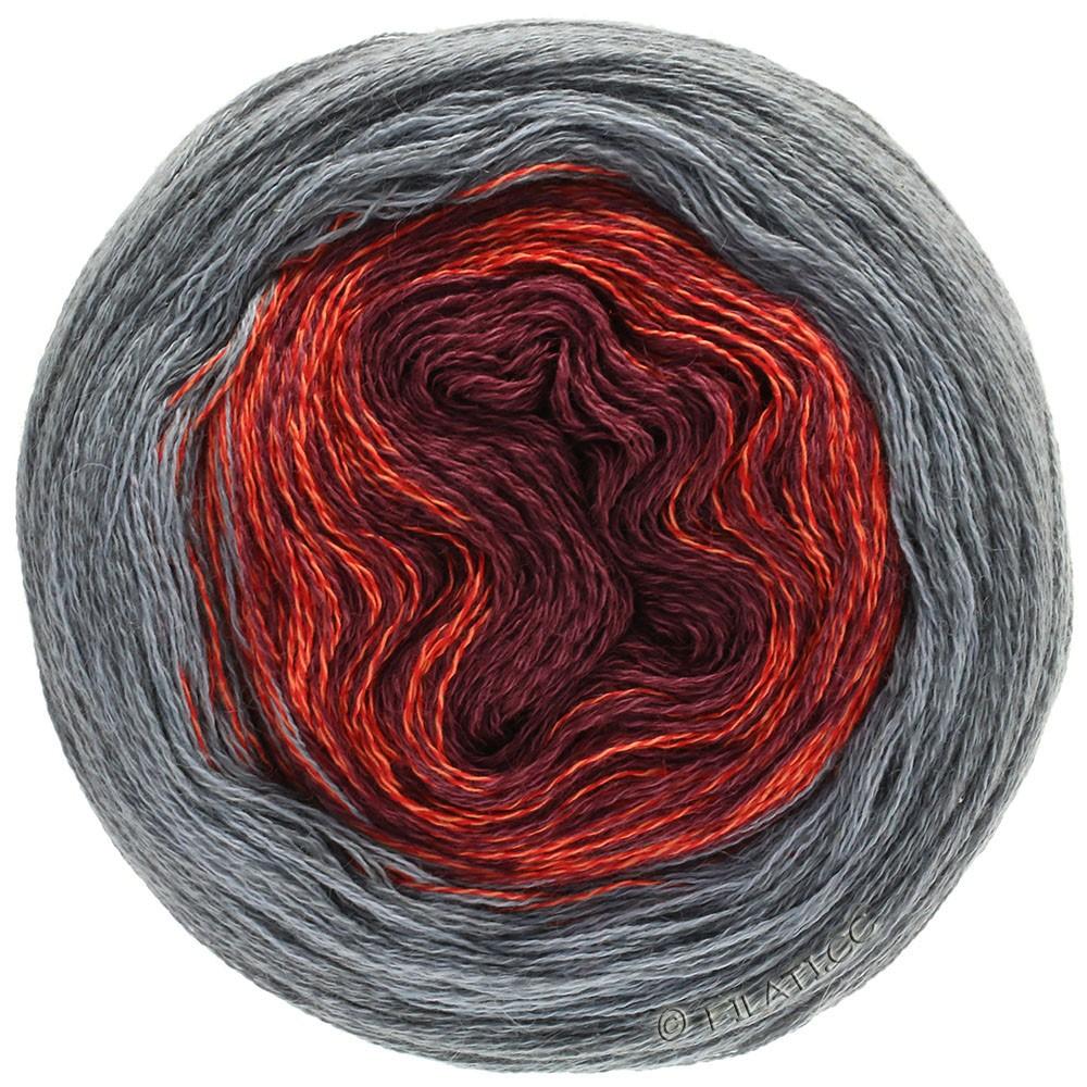 Lana Grossa SHADES OF MERINO COTTON | 405-mørkerød/lys rød/grå/mørkegrå