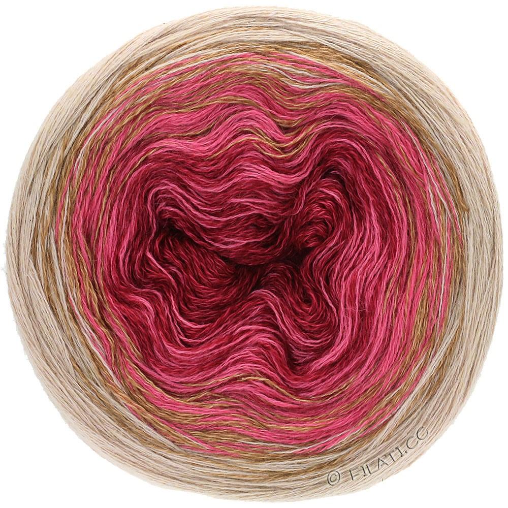Lana Grossa SHADES OF MERINO COTTON | 407-burgund/lys rød/gråbeige/taupe
