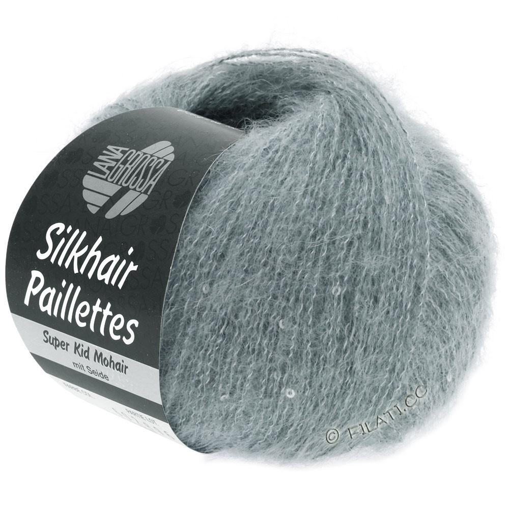 Lana Grossa SILKHAIR Paillettes | 410-grå