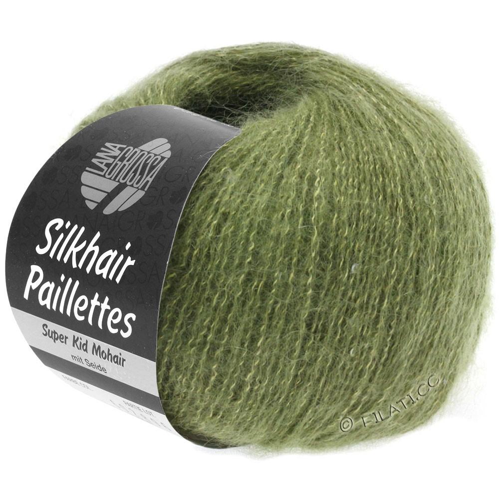 Lana Grossa SILKHAIR Paillettes | 411-kakigrøn