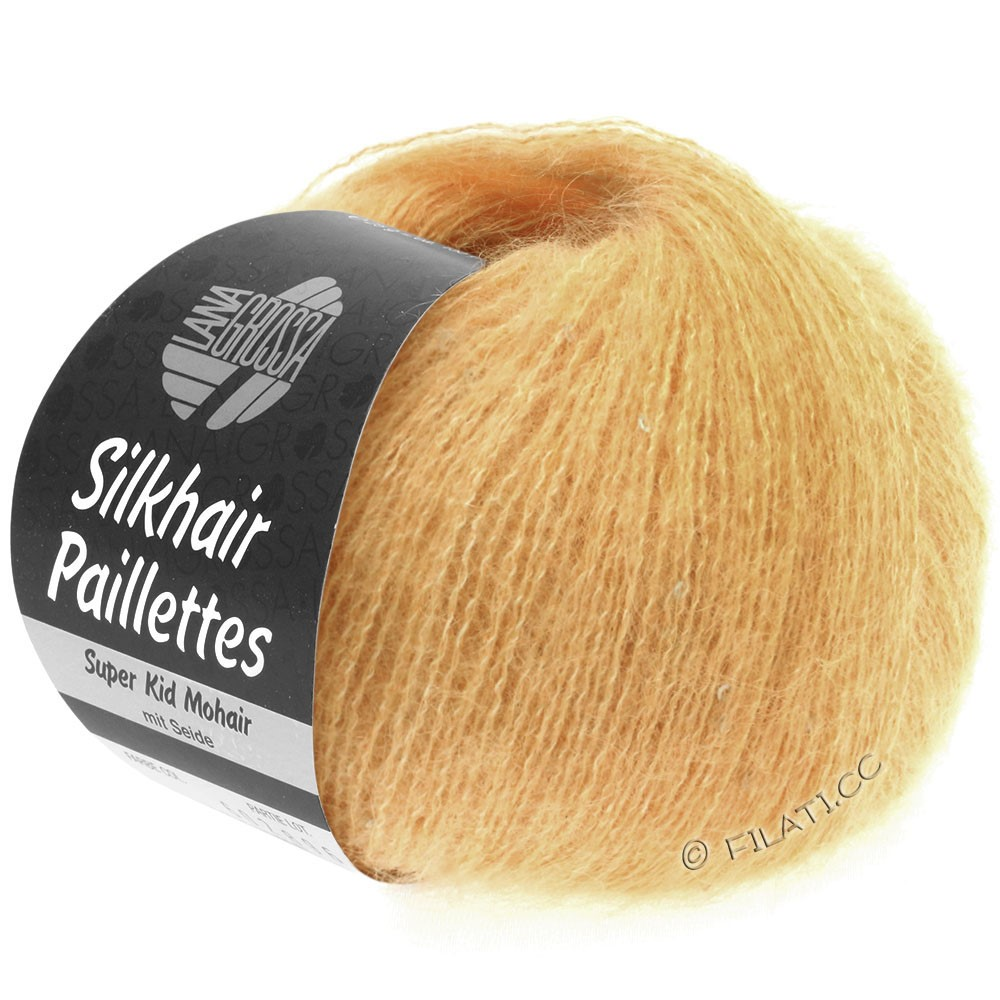 Lana Grossa SILKHAIR Paillettes | 413-abrikos