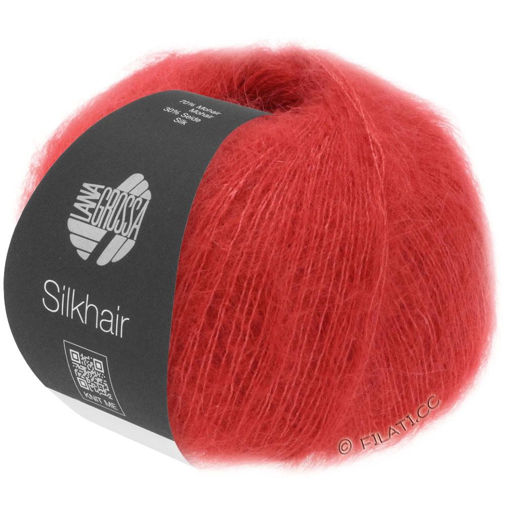 Lana Grossa SILKHAIR  Uni/Melange | 008-kirsebærrød