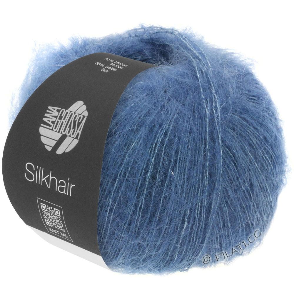 Lana Grossa SILKHAIR  Uni/Melange | 079-mørkeblå