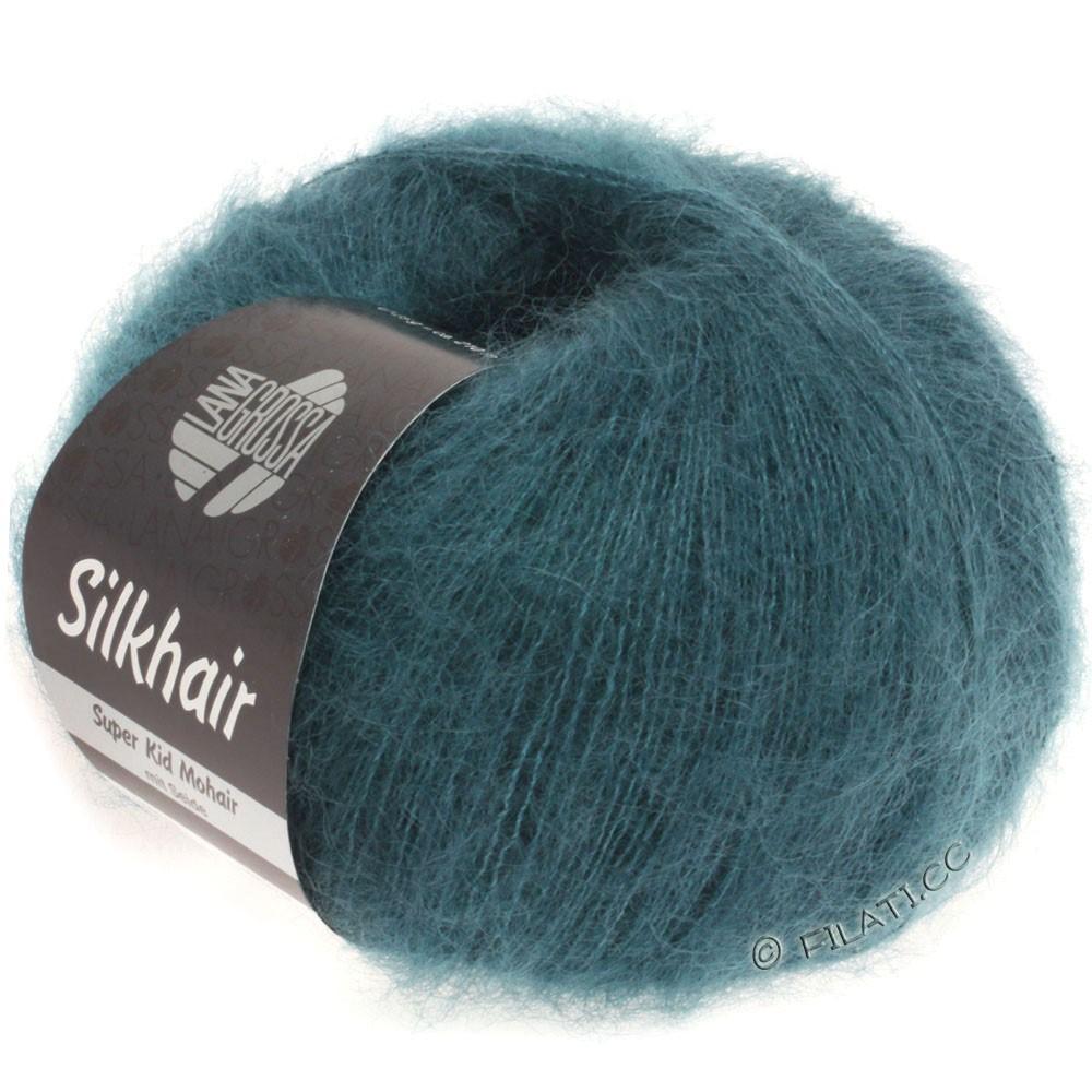 Lana Grossa SILKHAIR  Uni/Melange | 083-mørk grøn blå