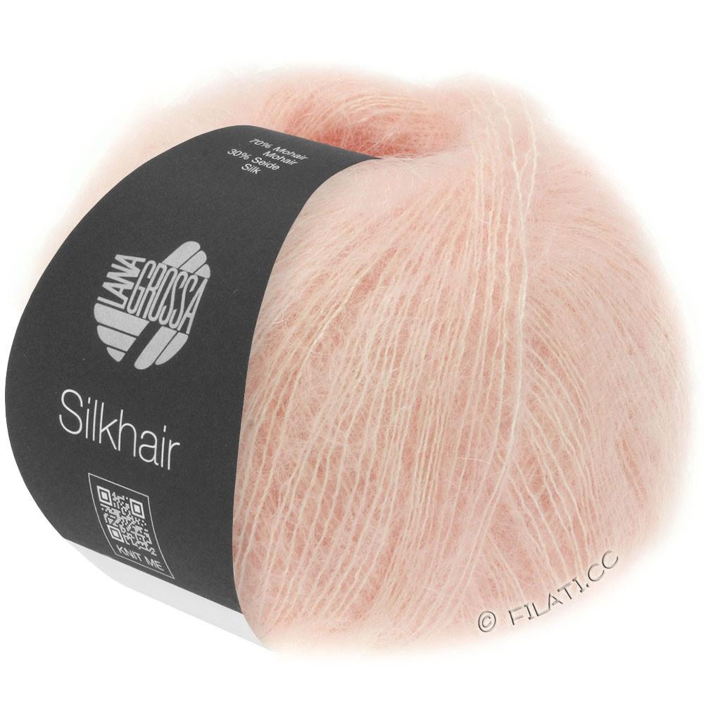 Lana Grossa SILKHAIR  Uni/Melange | 086-pudder rosa