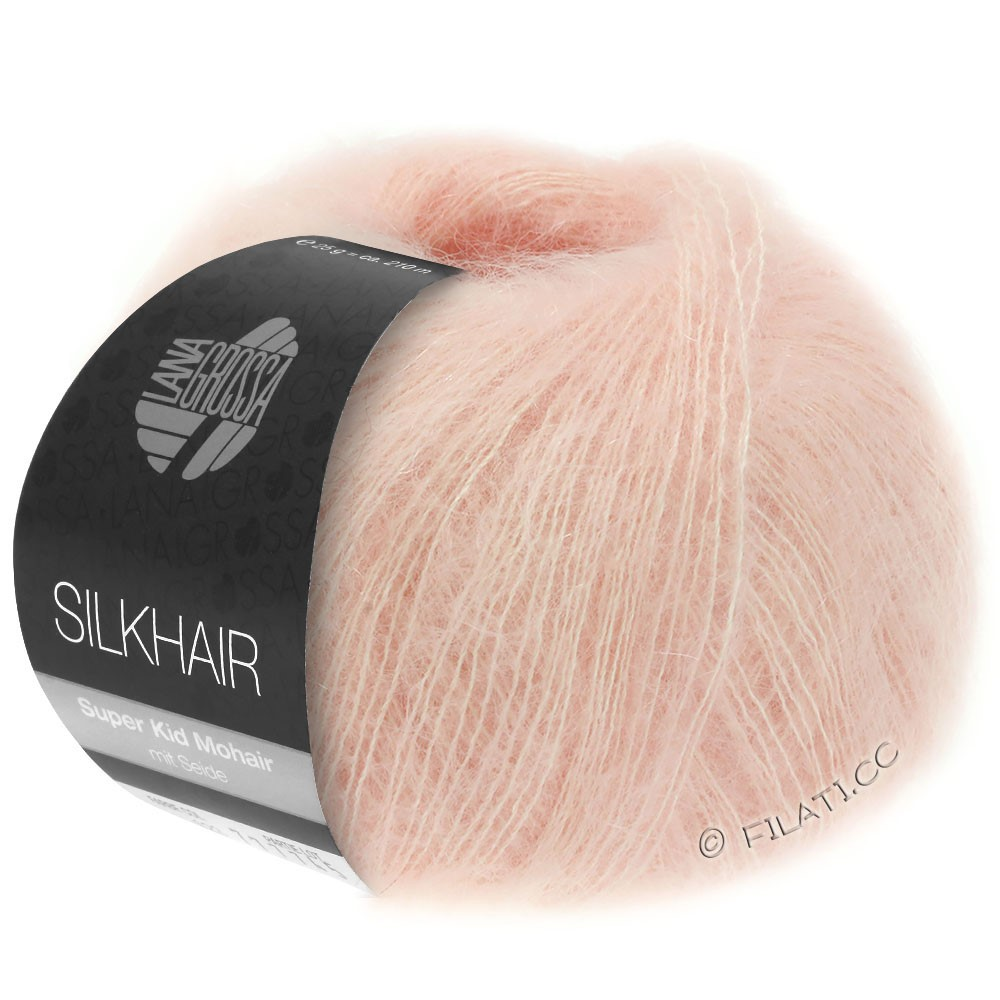Lana Grossa SILKHAIR  Uni/Melange | 086-pulver rosa