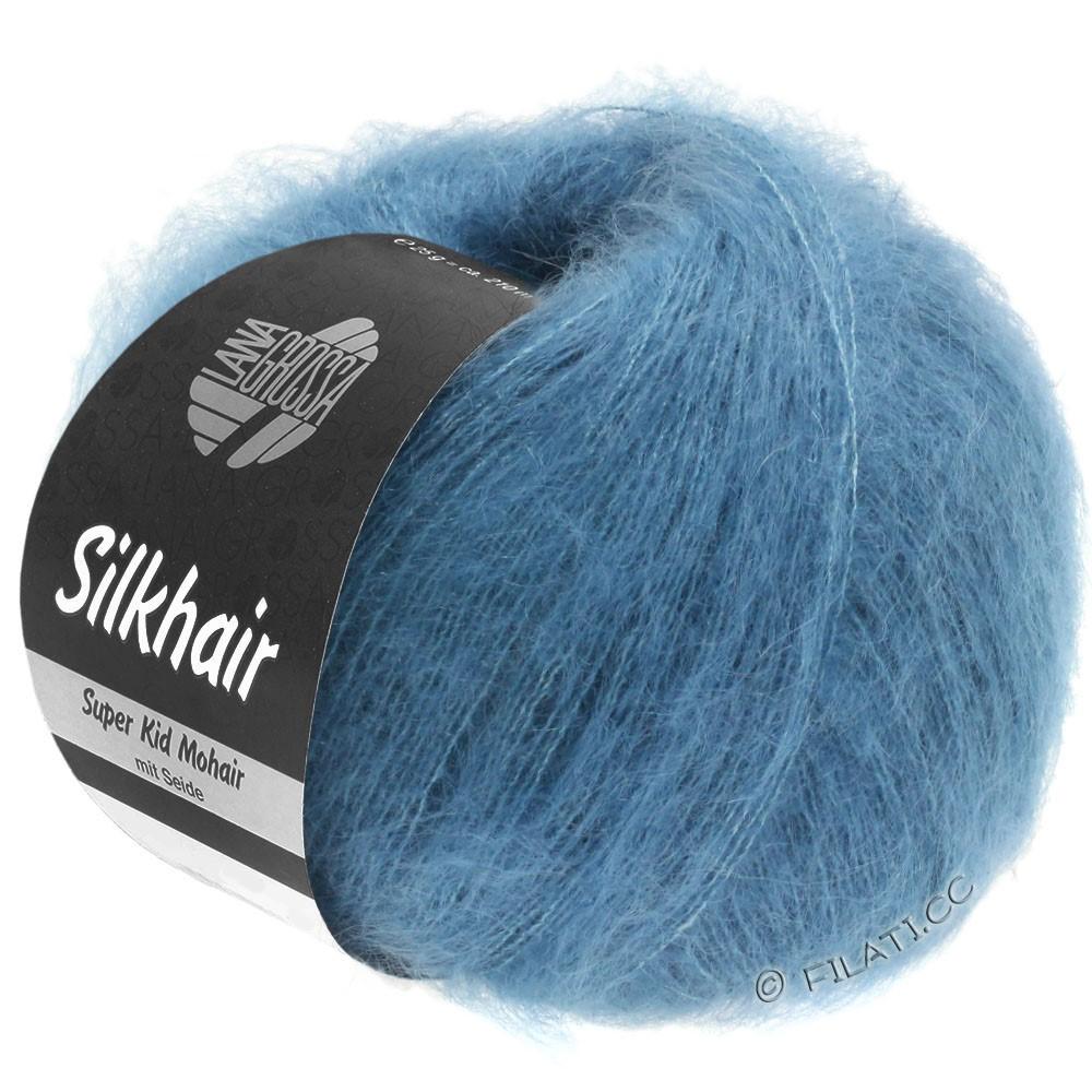 Lana Grossa SILKHAIR  Uni/Melange | 103-jeans blå