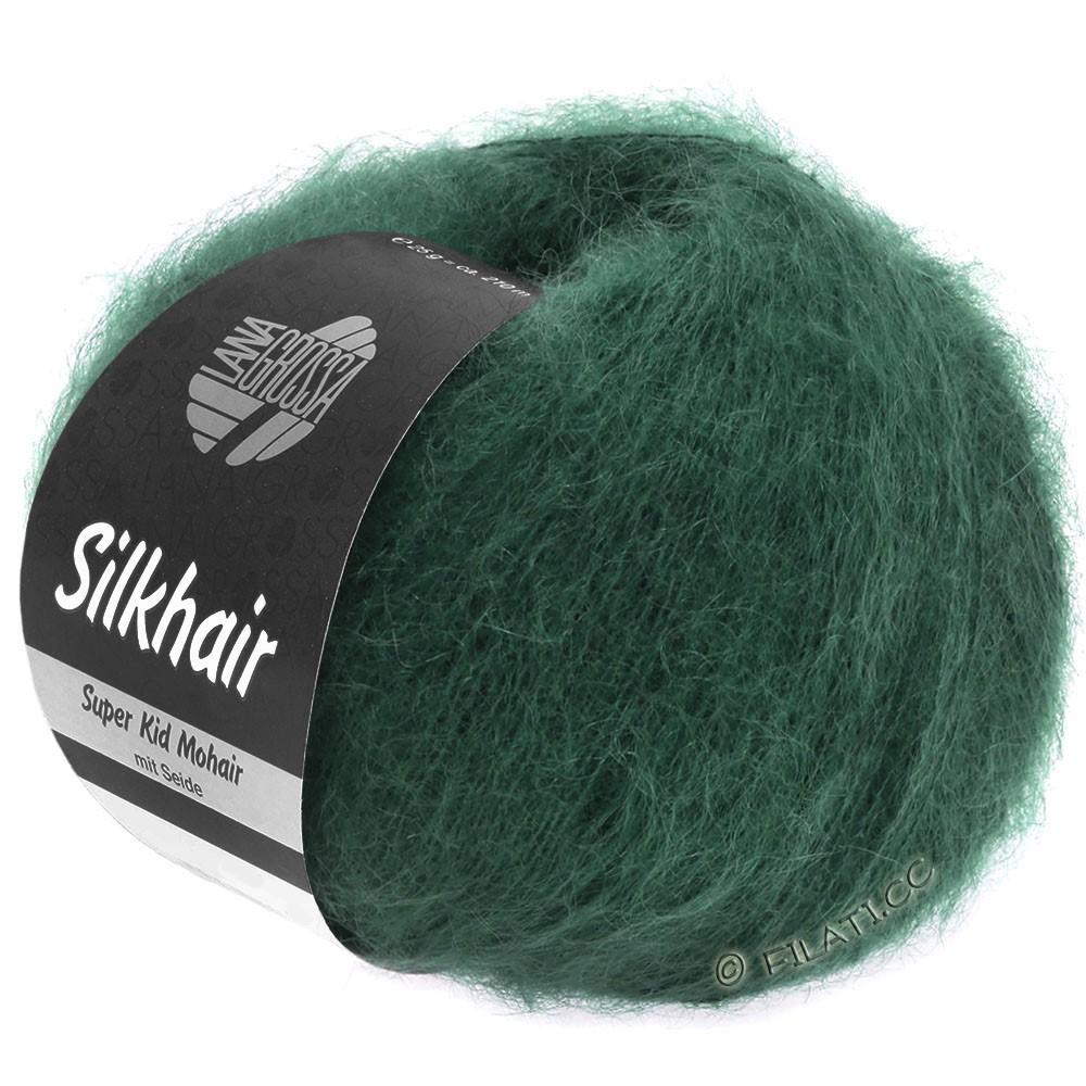 Lana Grossa SILKHAIR  Uni/Melange | 110-mørkegrøn