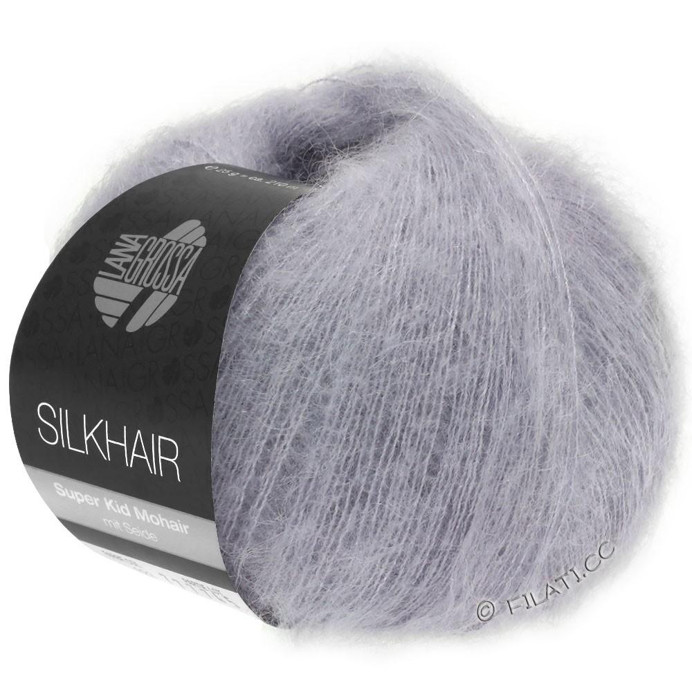 Lana Grossa SILKHAIR  Uni/Melange | 119-grå purpur