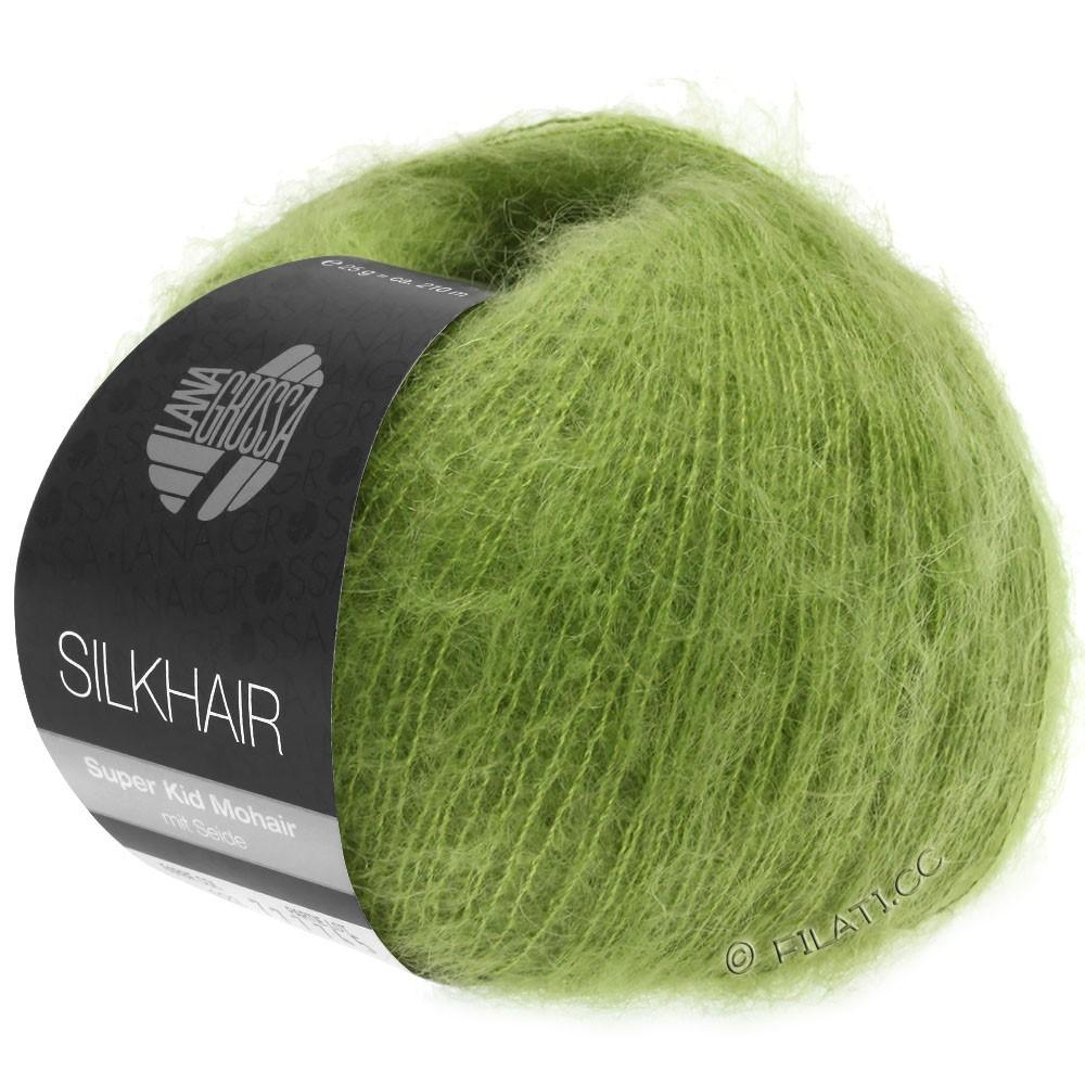 Lana Grossa SILKHAIR  Uni/Melange | 122-bladgrøn