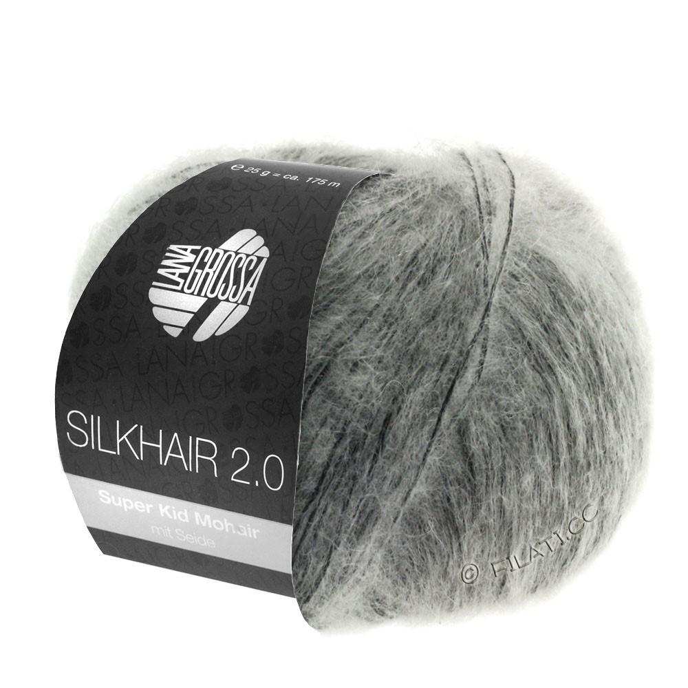 Lana Grossa SILKHAIR 2.0 | 02-grå