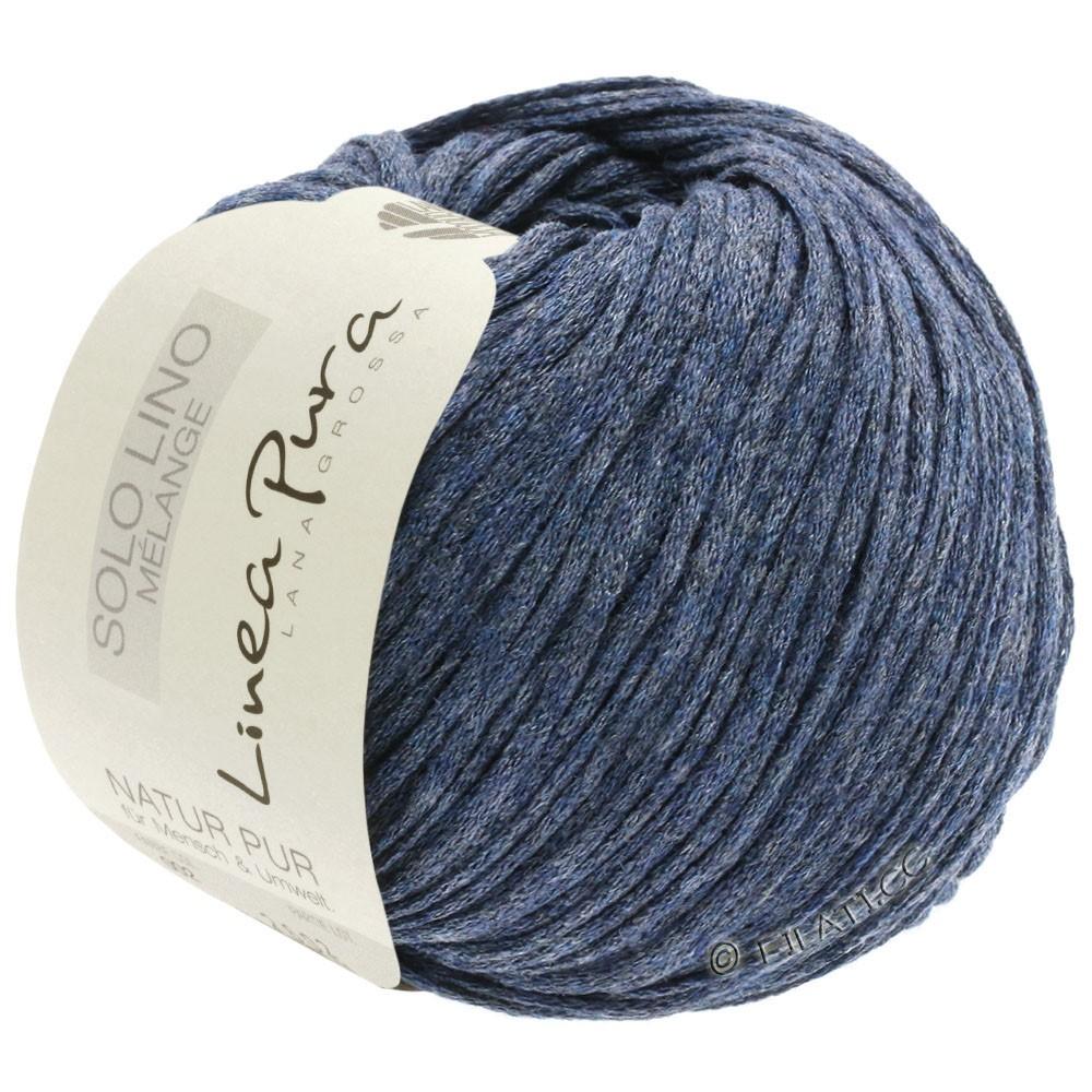 Lana Grossa SOLO LINO MELANGE (Linea Pura) | 107-mørkeblå meleret
