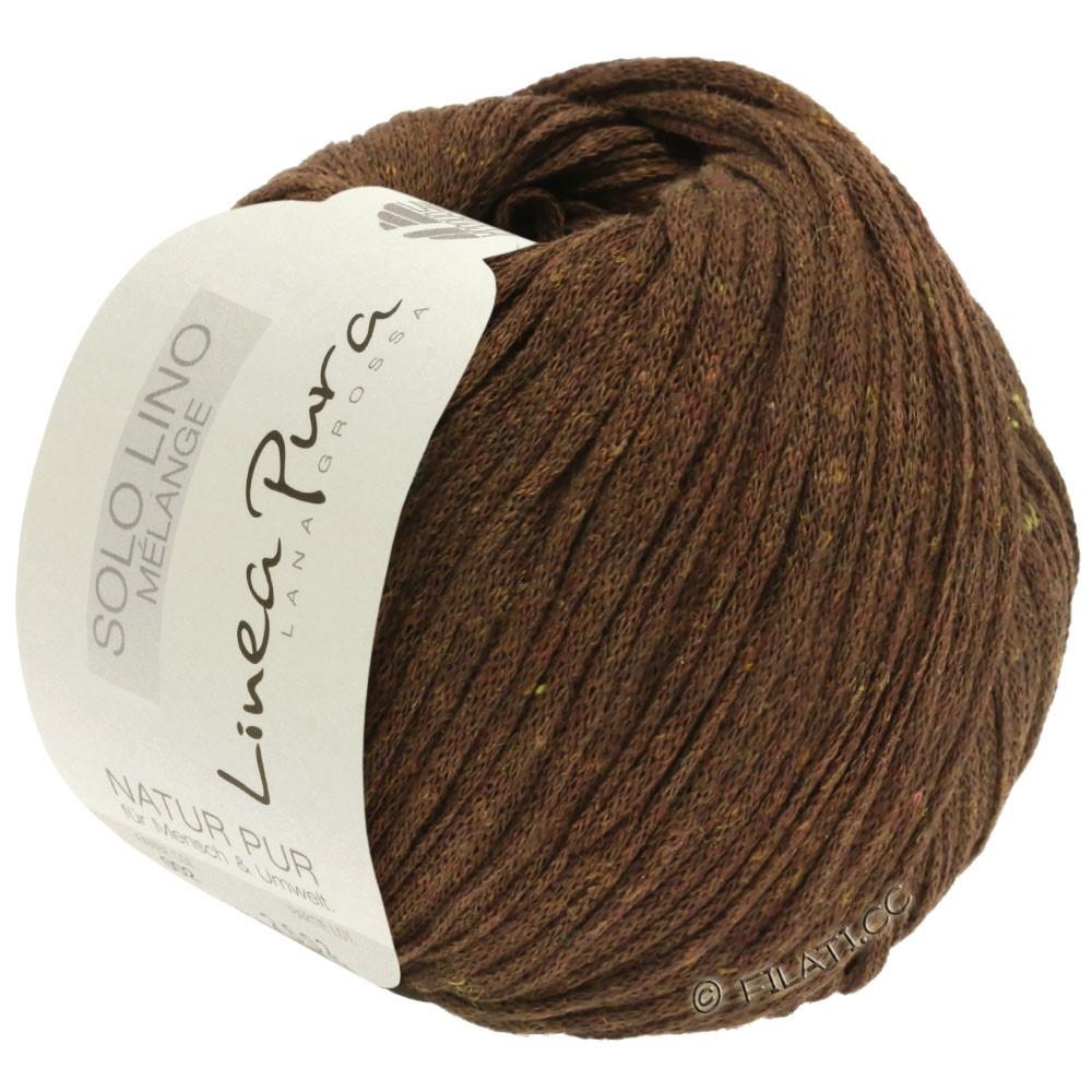 Lana Grossa SOLO LINO MELANGE (Linea Pura) | 117-mørkebrun meleret