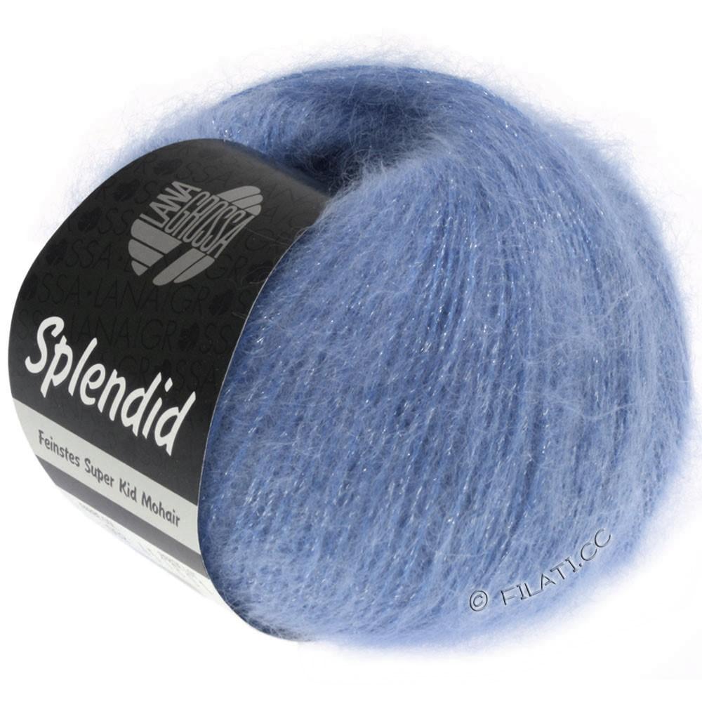 Lana Grossa SPLENDID | 23-blå/sølv