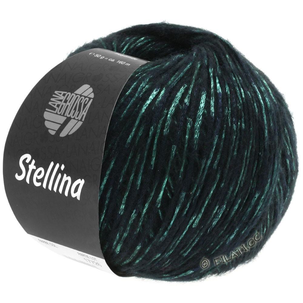 Lana Grossa STELLINA | 13-sort/grøn