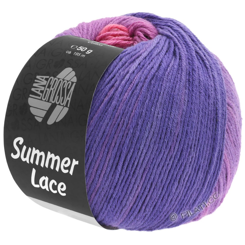 Lana Grossa SUMMER LACE DEGRADÉ | 102-rosa/lilla/purpur/blå violet