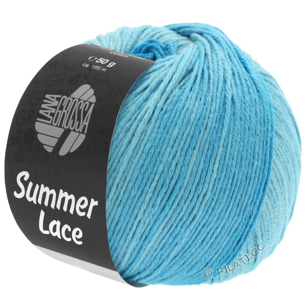 Lana Grossa SUMMER LACE DEGRADÉ | 103-mynte/lyseturkis/turkis