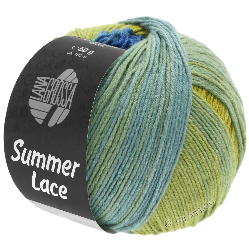 Lana Grossa SUMMER LACE DEGRADÉ | 104-gul/blå/jade-grønne