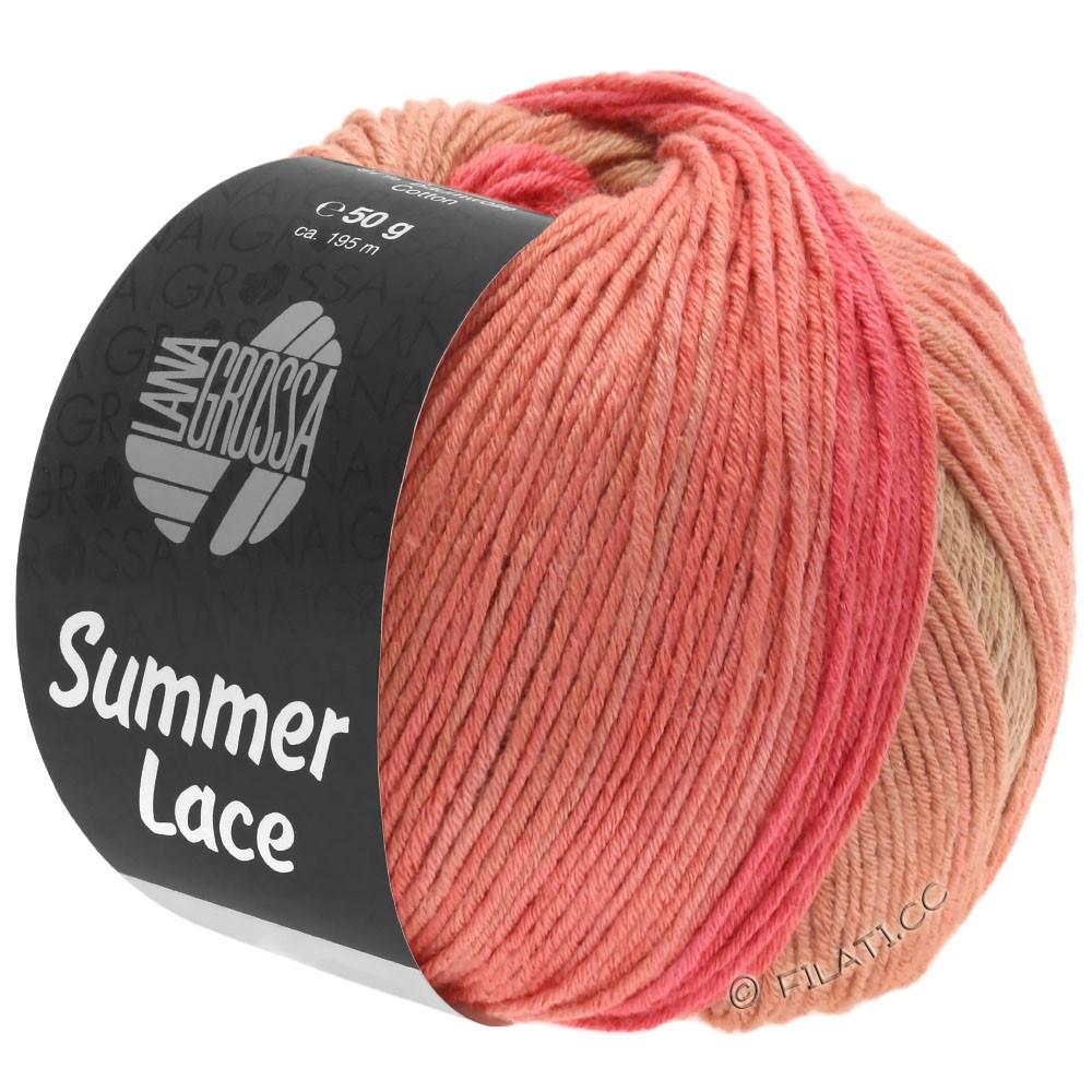 Lana Grossa SUMMER LACE DEGRADÉ | 105-fersken/hindbær/sand