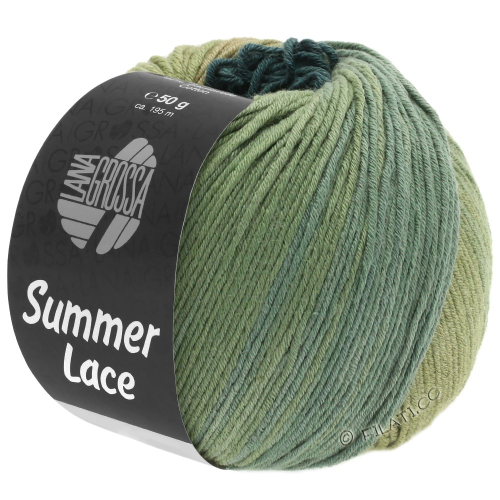 Lana Grossa SUMMER LACE DEGRADÉ | 107-siv/kaki/grågrøn
