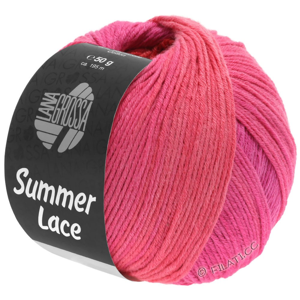 Lana Grossa SUMMER LACE DEGRADÉ | 111-cyklamen/pink/rød