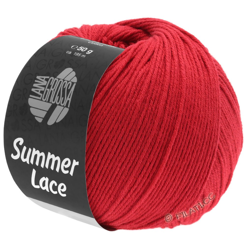 Lana Grossa SUMMER LACE | 12-rød