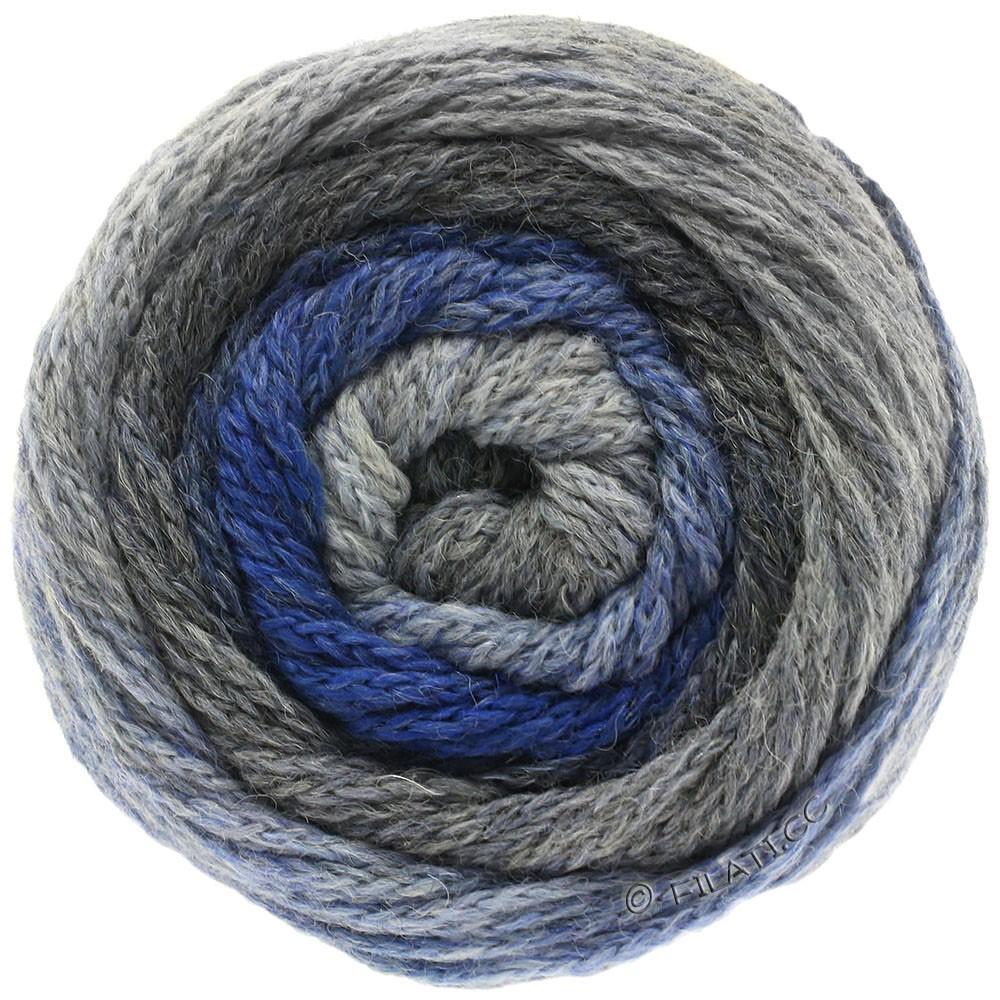 Lana Grossa SUPER COLOR | 104-lysegrå/mørkegrå/jeans/royal