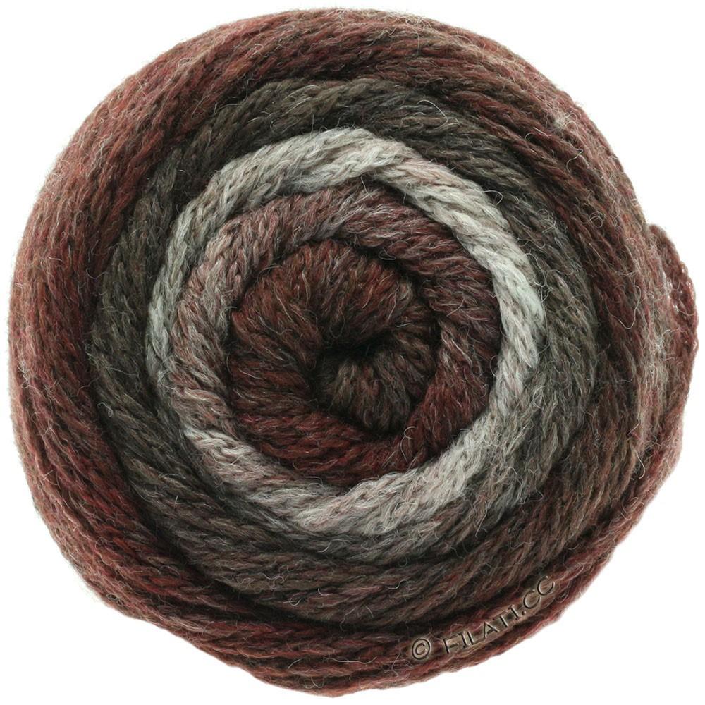 Lana Grossa SUPER COLOR | 108-natur/gråbrun/grå rød/brombær