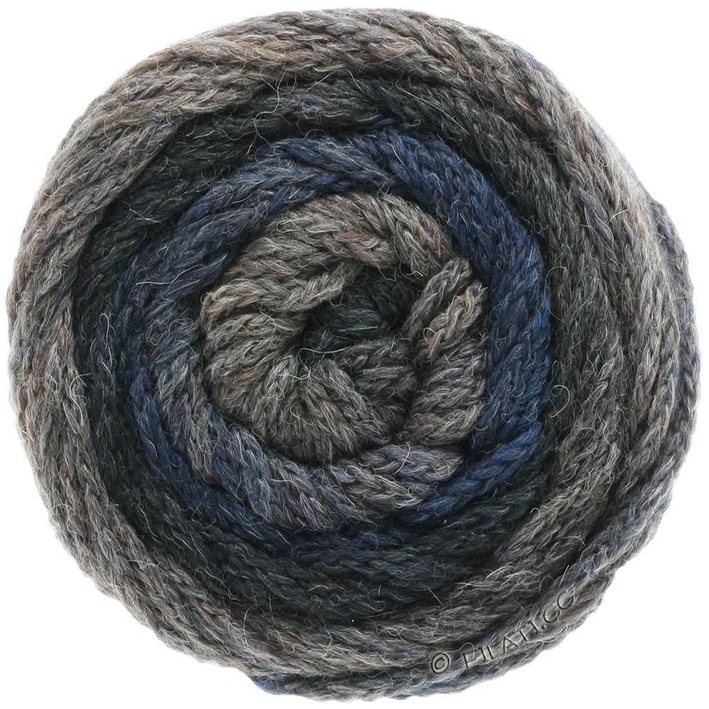 Lana Grossa SUPER COLOR | 109-mørkegrå/antracit/sort/mørkeblå