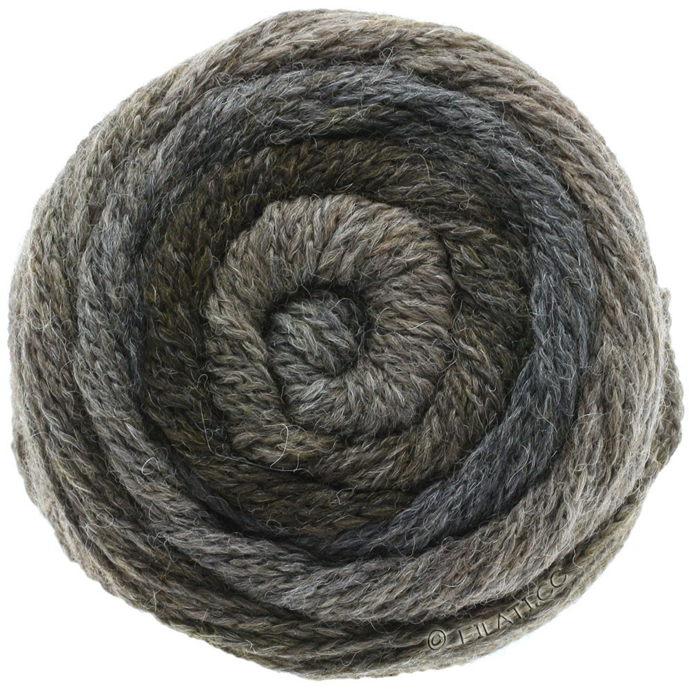 Lana Grossa SUPER COLOR | 110-mørkegrå/gråbrun/antracit