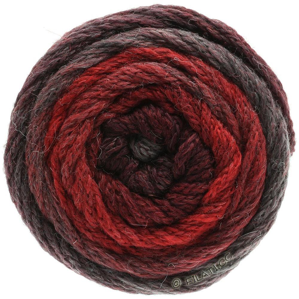 Lana Grossa SUPER COLOR | 112-teglstensrød/sortrød/grå rød