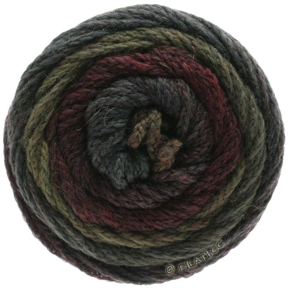 Lana Grossa SUPER COLOR | 114-sortrød/mudder/antracit