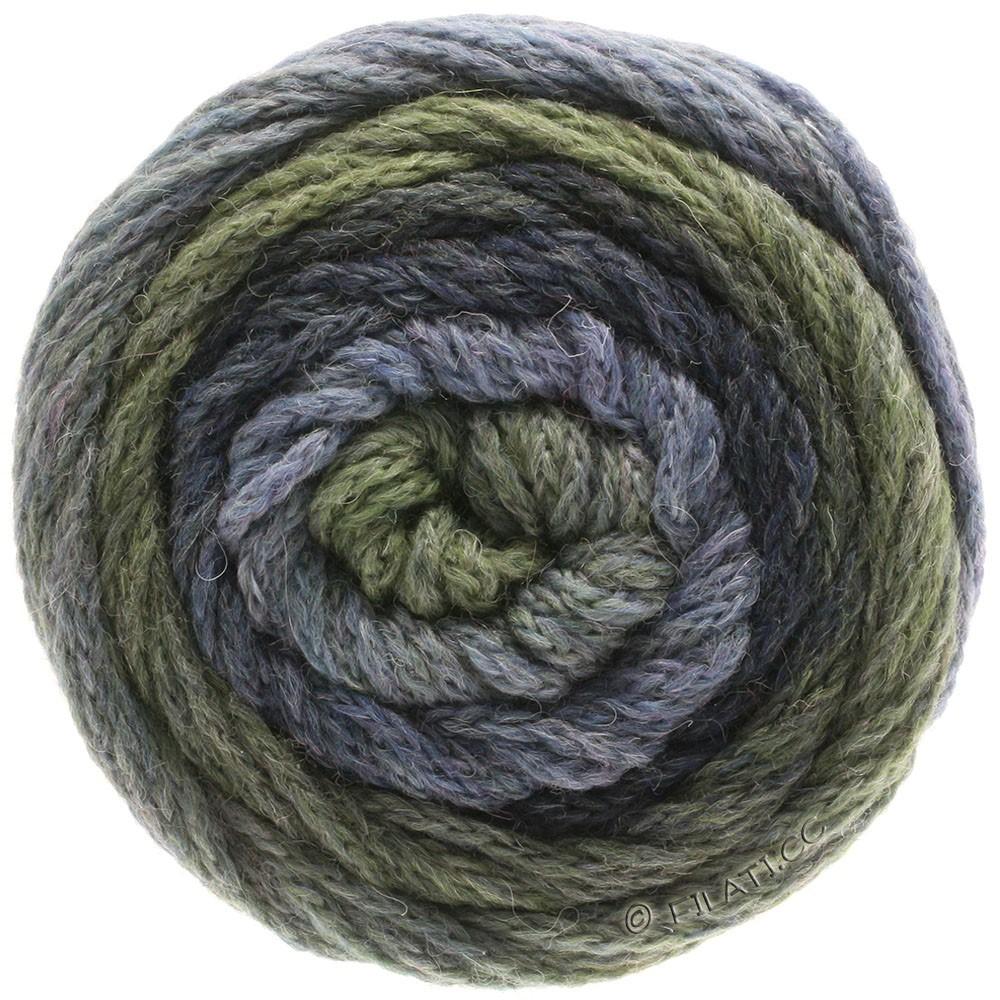 Lana Grossa SUPER COLOR | 115-lyse jeans/mørkejeans/resedagrøn/mørkegrå