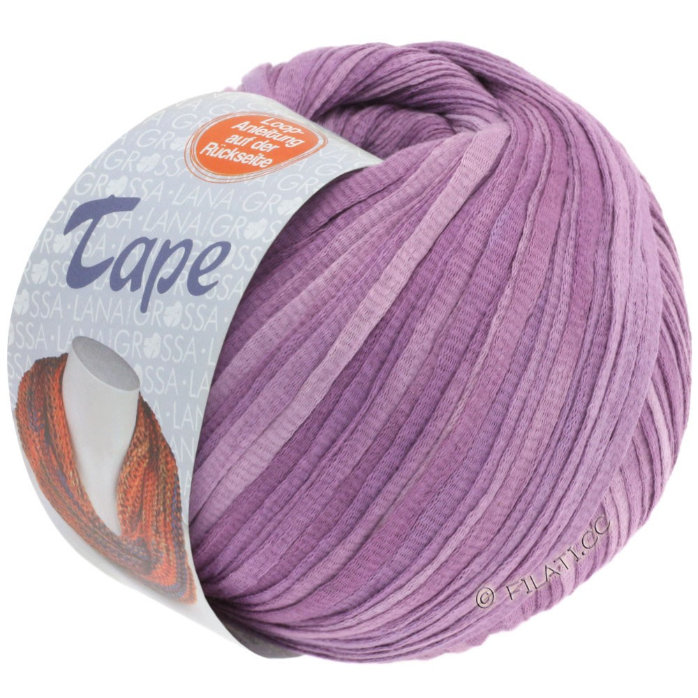 Lana Grossa TAPE (McWool) | 02-lilla/purpur