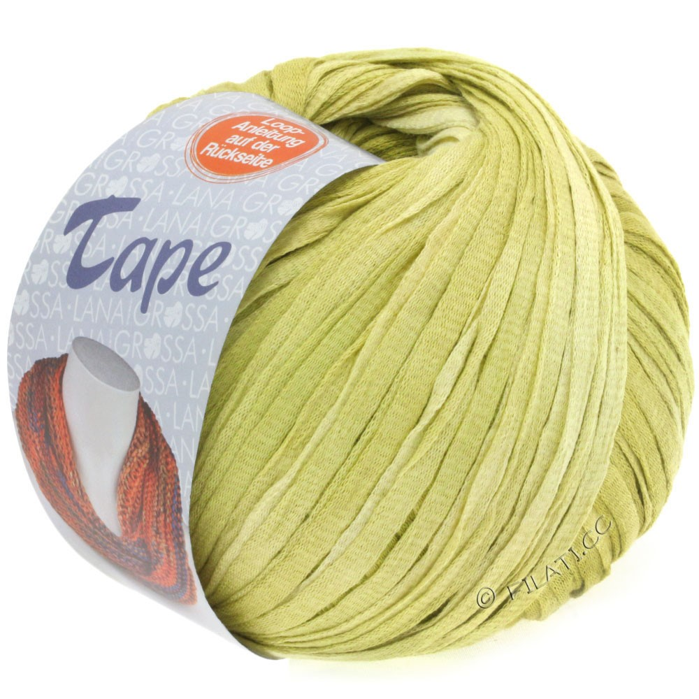 Lana Grossa TAPE (McWool) | 05-sartgul/gulgrøn