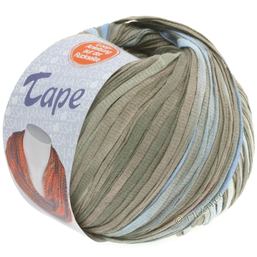 Lana Grossa TAPE (McWool) | 103-blå purpur/grå