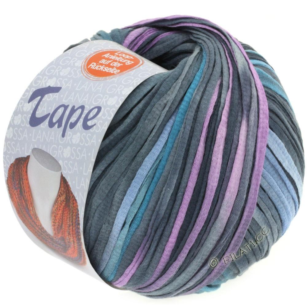 Lana Grossa TAPE (McWool) | 104-jeans/gråblå/marine