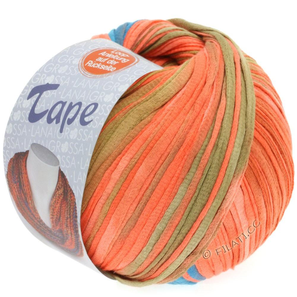 Lana Grossa TAPE (McWool) | 105-lakse/gråblå/gammelrosa